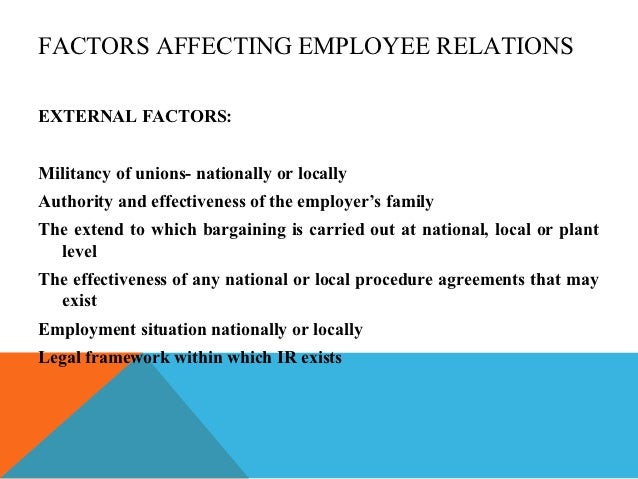 THE IMPACT OF INDUSTRIAL RELATIONS ON EMPLOYEE PERFORMANCE