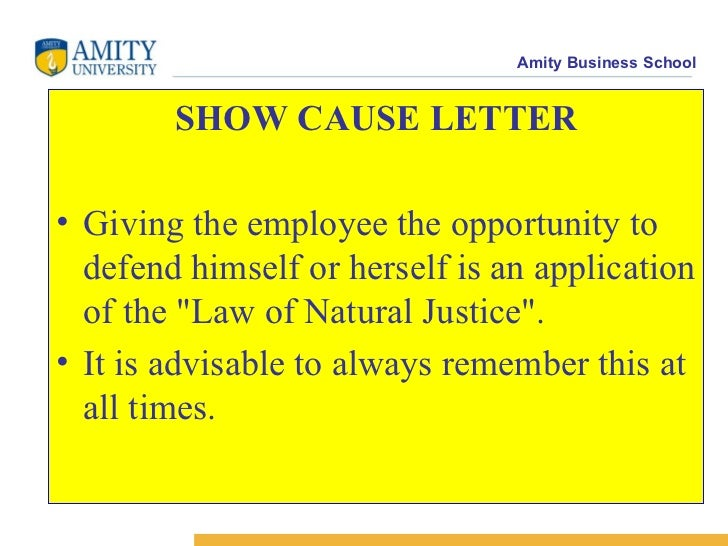 show cause notice meaning india