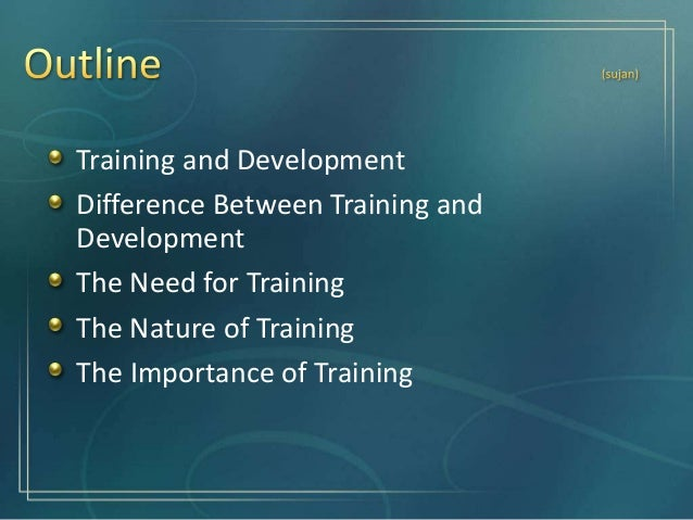 Training is basically a systematic procedure for transferring technical know-how to the employees so as to increase their ...