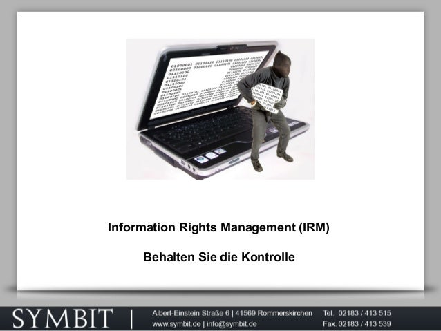 Information Rights Management (IRM) Behalten Sie die Kontrolle