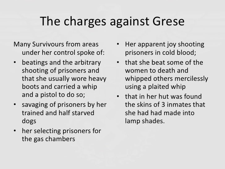 Irma Grese And The Holocaust