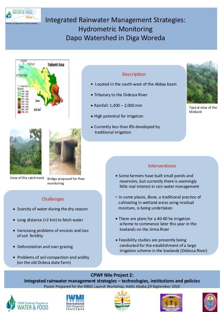 Rainwater management for resilient livelihoods                                                  Integrated Rainwater Manag...