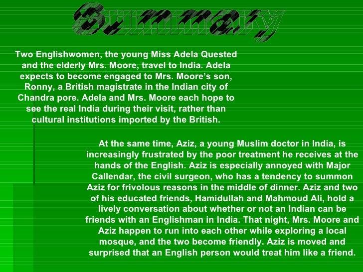the passage to india summary