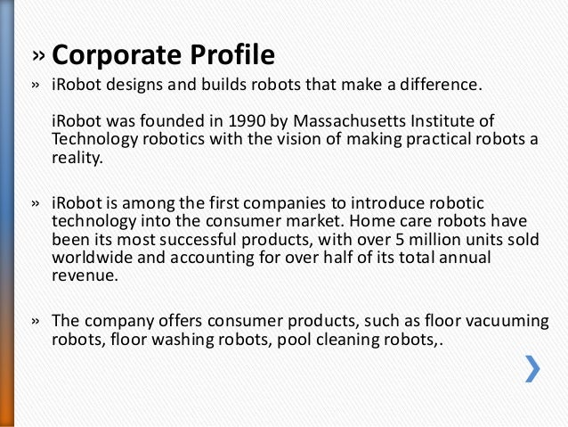 IRobot Case Finding the Right Market Mix Slide 2
