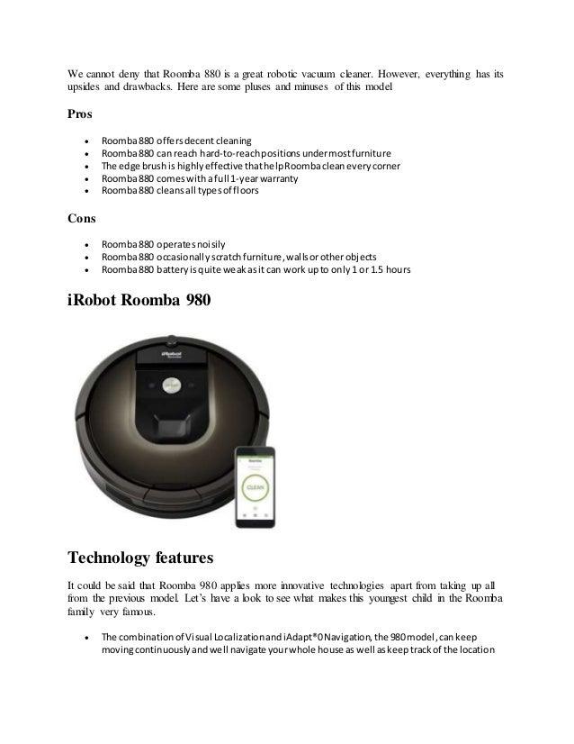 I robot roomba 880 vs roomba 890 reviews