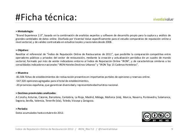 """#Ficha técnica:> Metodología:""""Brand Experience 2.0"""", basada en la combinación de analistas expertos y software de desarrol..."""