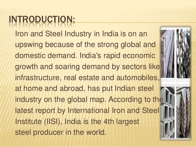 Impact of GST Rate on Iron and Steel Industry in India