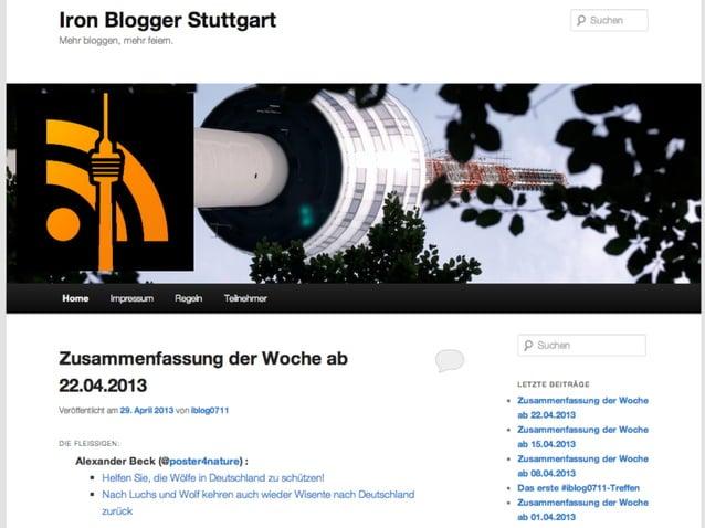 #ironblogger://StarterkitSelfservice auf ironblogger.deVerwaltung über WebinterfaceHosting auf [stadt].ironblogger.debald™
