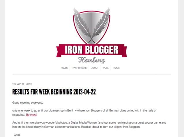 Credits● http://www.flickr.com/photos/joi/1022023224/ (Mako by Joi Ito, CC-BY)● Ironblogger Logo Hamburg und Kiel - Inken ...