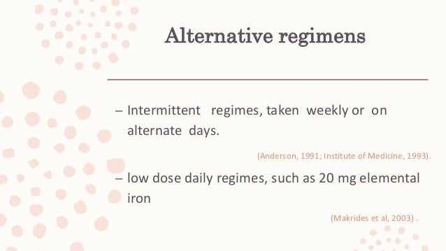 Iron deficiency anaemia in pregnancy- evidence based approach
