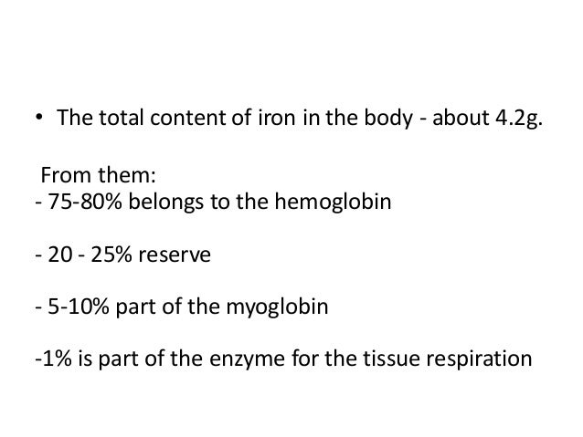 4. • The total content of iron ...