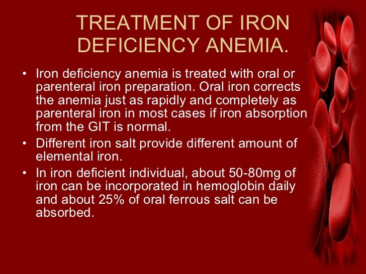 iron deficiency anemia Iron-deficiency anemia is anemia caused by a lack of iron anemia is defined as a decrease in the number of red blood cells or the amount of hemoglobin in the blood.