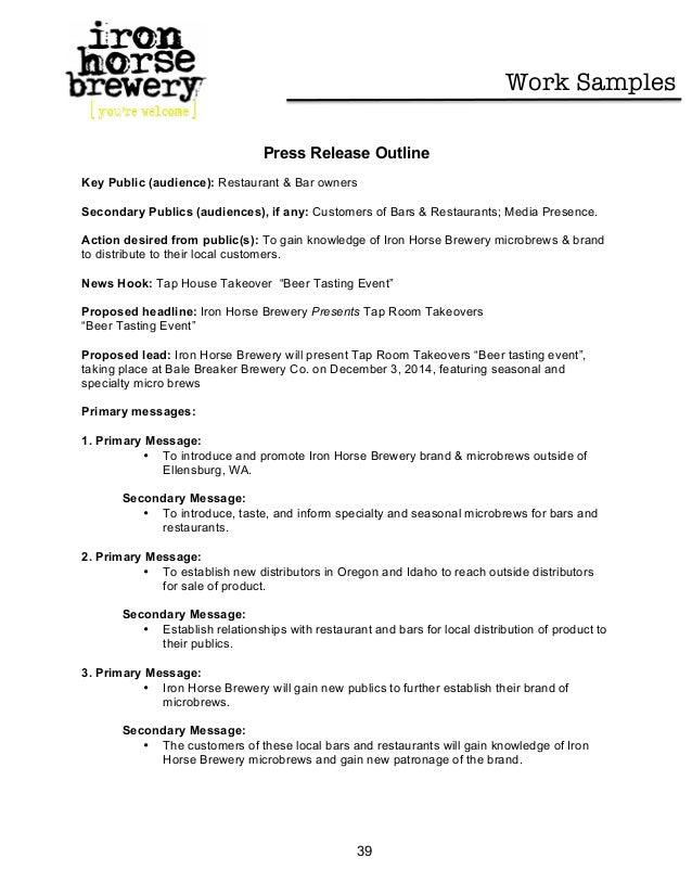 press release outline