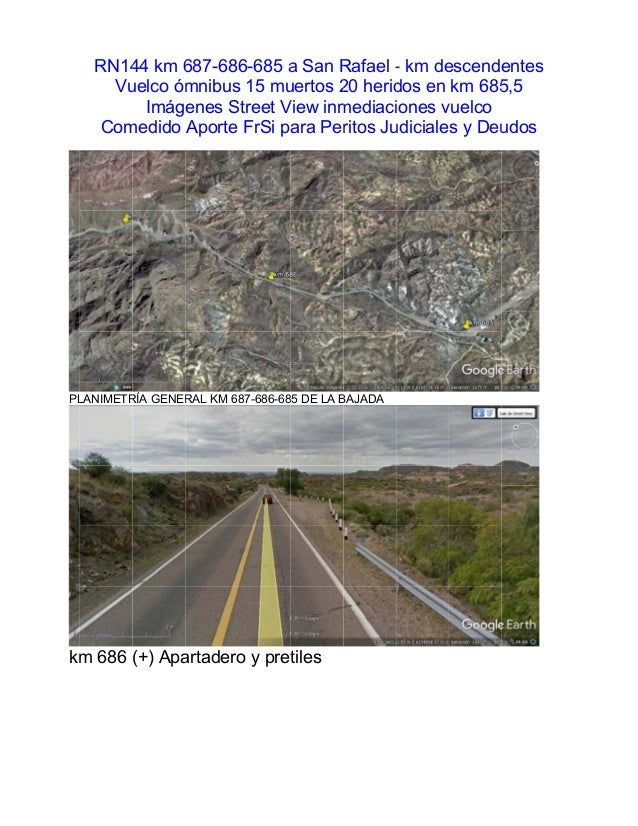 PL km RN14 Vu Com LANIMETR m 686 44 km 6 uelco óm Imág medido RÍA GENER (+) Apa 687-68 mnibus enes S Aporte RAL KM 6 artad...