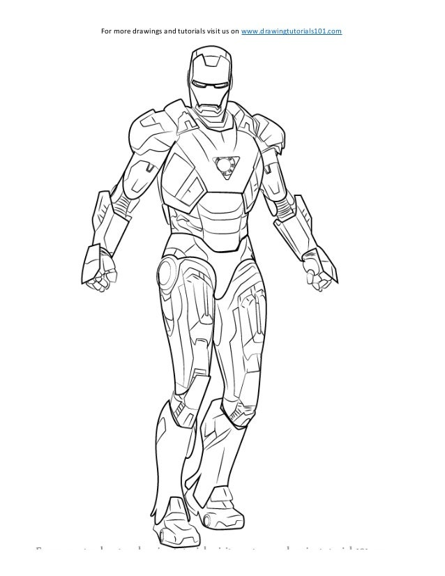 How To Draw Iron Man Sketch