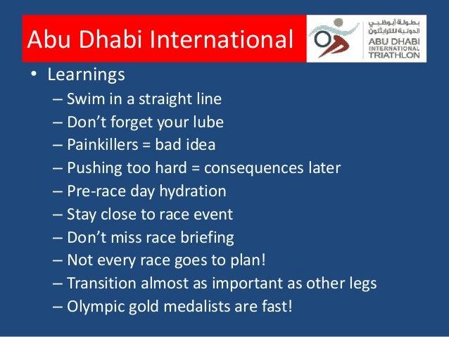 Abu Dhabi International      With Gayathre – her first triathlon