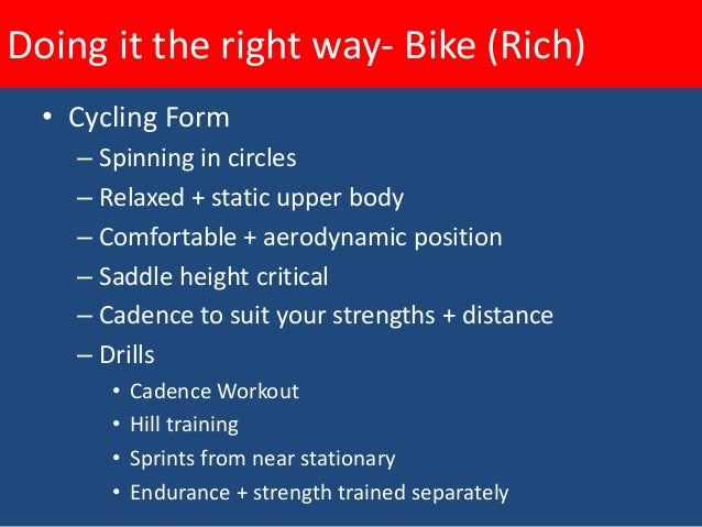 Doing it the right way- Run (Amit)  • Running Form     – Foot strike     – Stride     – Posture     – Running drills      ...