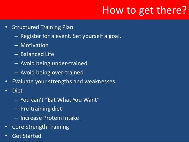 Training Outline• Orientation  – 2 weeks of progressive training. Nothing too hard.• Pre-Season  – 20 weeks of building up...