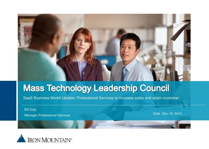 Mass Technology Leadership Council<br />SaaS Business Model Update: Professional Services to increase sales and retain cus...
