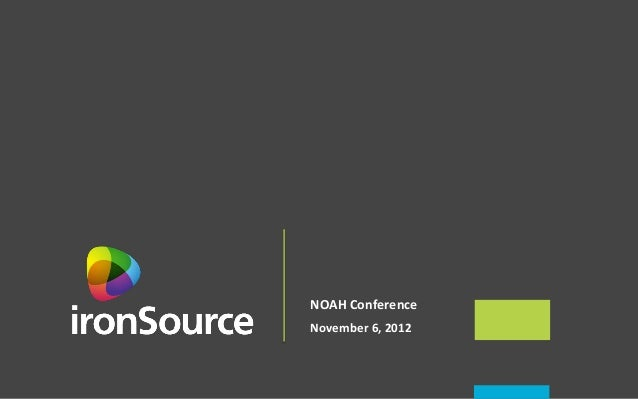 NOAH Conference  November 6, 2012