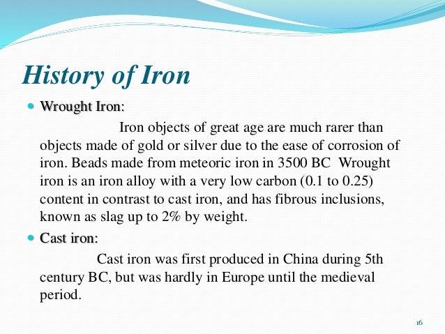 Origin Of Iron ~ Iron steel