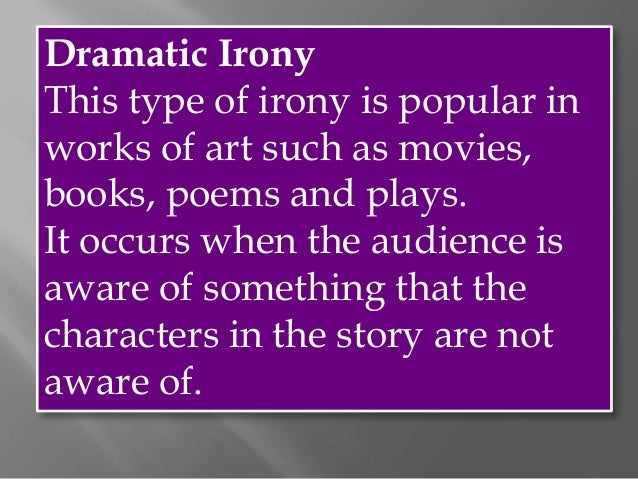 types of dramatic irony