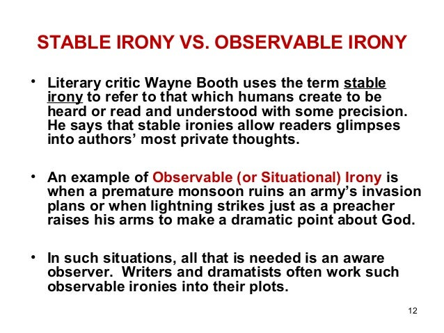 in a literary work what is irony