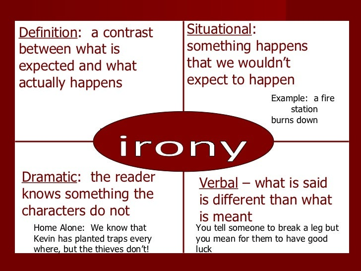 three types of irony essay