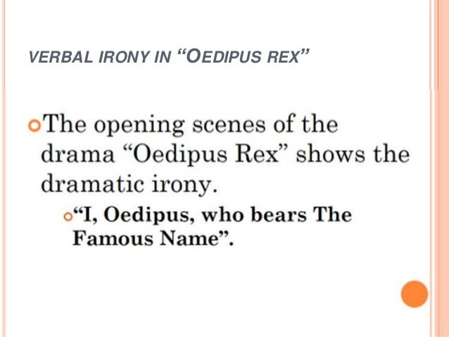 verbal irony in oedipus