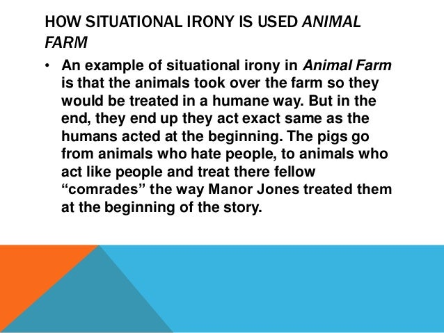What Is An Example Of Verbal Irony In Animal Farm - Nouveau Concepts