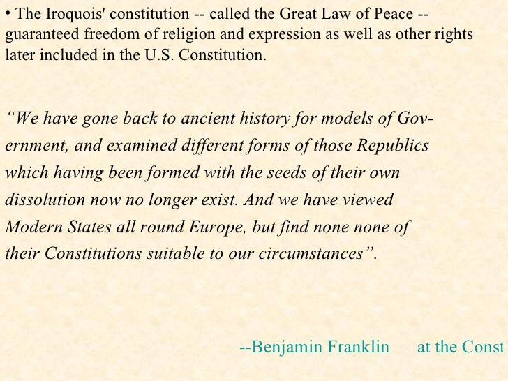 iroquois constitution and us constitution