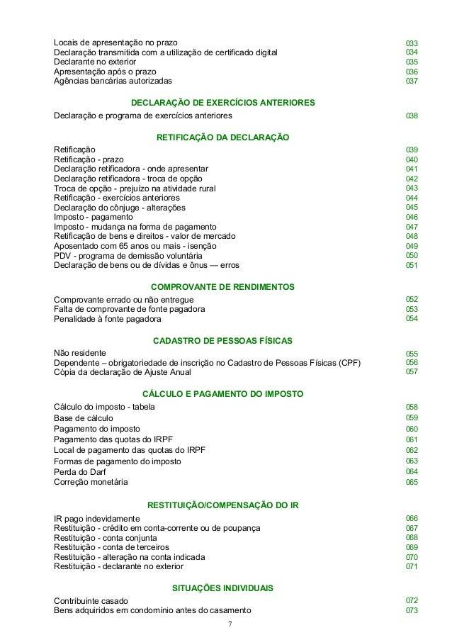 Imposto de renda pessoa fisica 2015 perguntas e respostas for Declaracao de bens viagem exterior