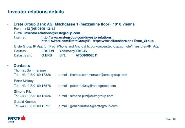 Erste Group at Bank of America Merrill Lynch Banking