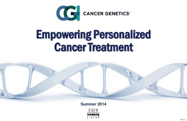 Empowering Personalized Cancer Treatment Summer 2014 062314