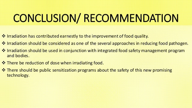 irradiation of food essay Irradiated foods causes cancer (even in tests where all the food in the diet was irradiated at levels 10 times  food irradiation fact sheet .