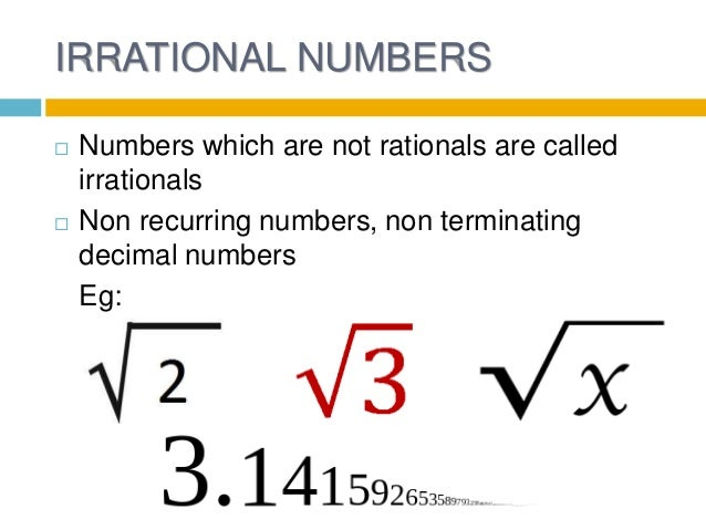 irrational numbers Irrational numbers search engine: find numeric strings in the first 2 billion digits of pi, e, the square root of 2 and phi.