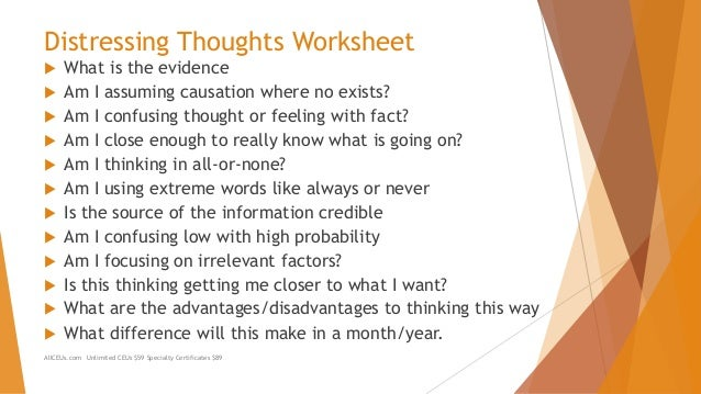 Irrational Thoughts Understanding and Addressing Them – Irrational Thoughts Worksheet