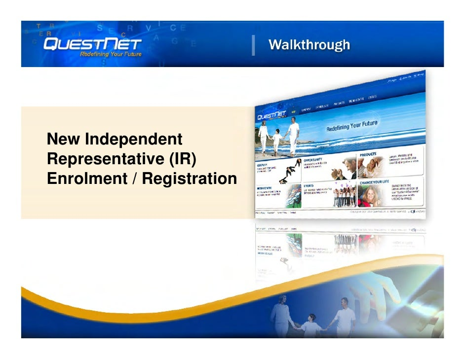 New Independent Representative (IR) Enrolment / Registration