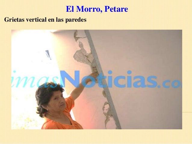 El Morro, PetareGrietas vertical en las paredes