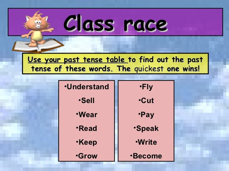 Tom S Tefl Irregular Verbs
