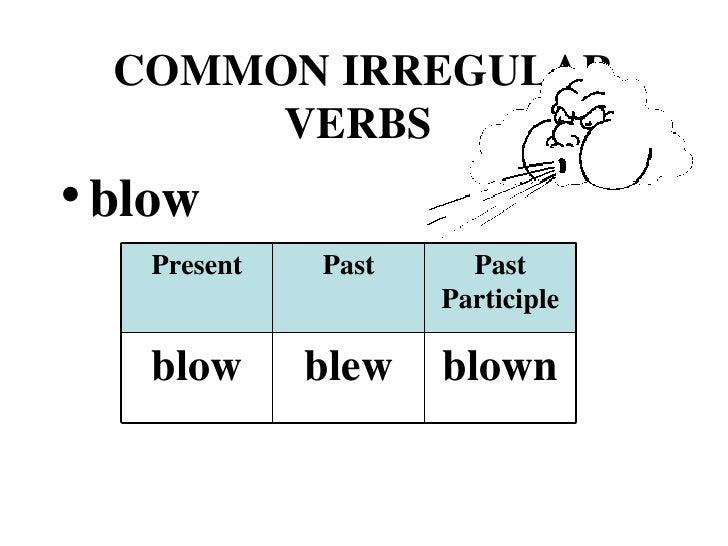 Irregular Verbs Slide 3