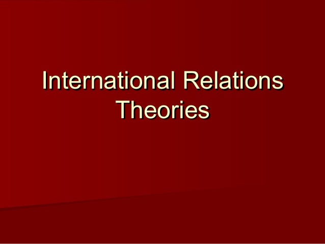 The Concept Of Human Nature In International Relations