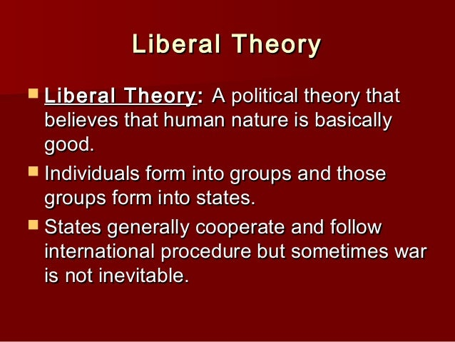 International relations just war theory