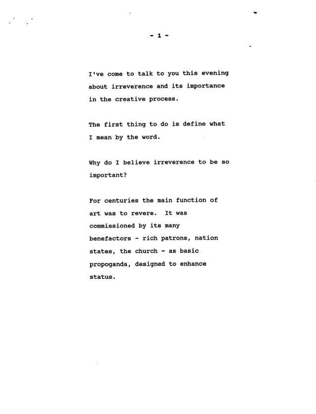 Irreverance by hegarty Slide 2