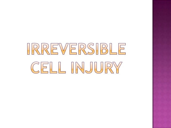 IRREVERSIBLECELL INJURY<br />