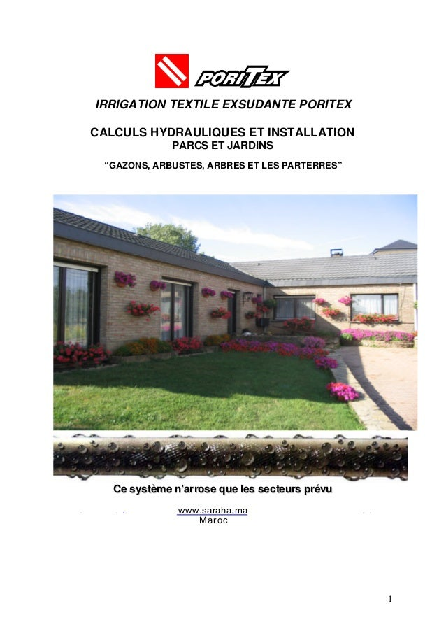 Catalogue Poritex informations générales.