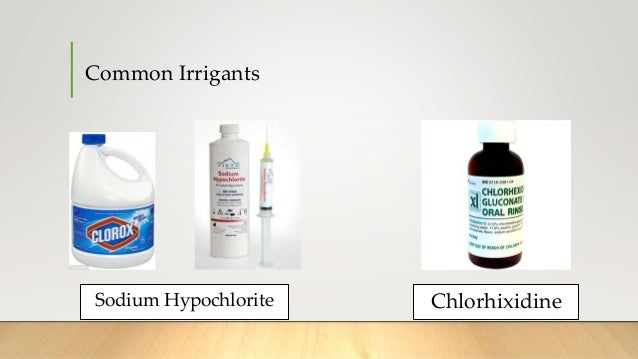 sodium hypochlorite as an endodontic irrigant All products anaesthetics & pharmaceuticals cad / cam technology consumables endodontics equipment facial aesthetics sodium hypochlorite solution 3% (naoci) 15% online discount order up until 6pm free delivery pricematch guarantee most.