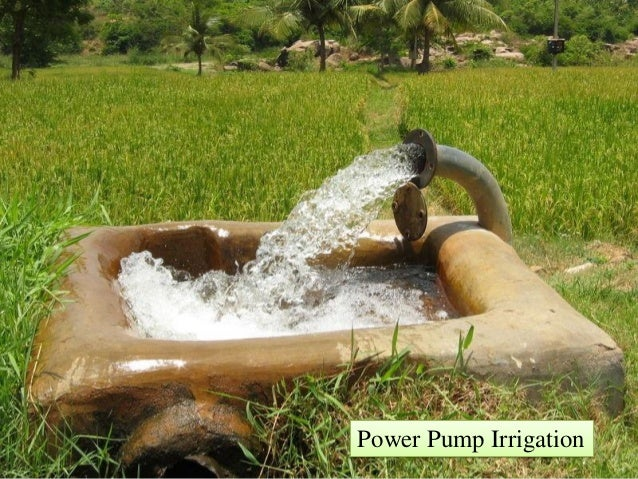 different sources of irrigation