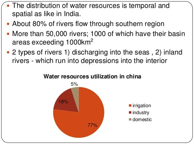 importance of water resource in india Context - water is essential for human survival and well-being and important to many sectors of the economy however, resources are irregularly distributed in space and time, and they are.