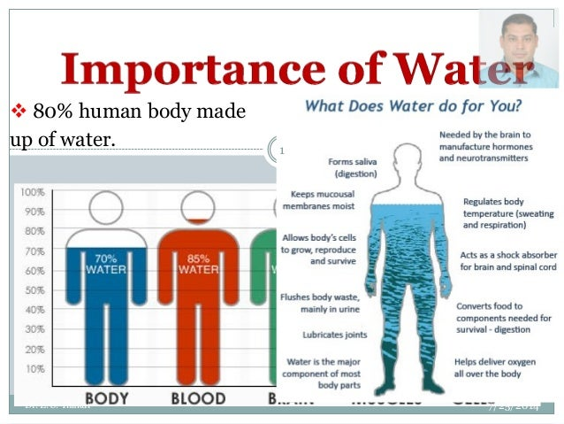  80% human body made up of water. 7/25/2014 1 Dr. L. S. Thakur